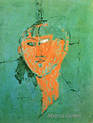 Head of Young Woman 1915 - Amedeo Modigliani