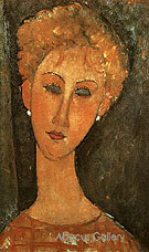 Woman with Earrings 1917 - Amedeo Modigliani