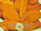 Yellow Hickory Leaves with Daisy 1928 - Georgia O'Keeffe