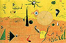 Catalan Landscape The Hunter 1923 - Joan Miro