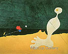 Person Throwing a Stone at a Bird 1926 - Joan Miro