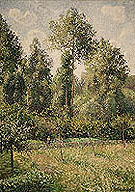 Poplars Sunset at Eragny - Camille Pissarro