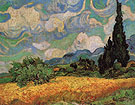 Wheat Field with Cypresses at the hautegalline near eygalieres 1889 - Vincent van Gogh