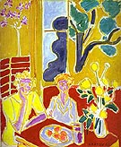 Two Girls with Yellow and Red Background 1947 - Henri Matisse