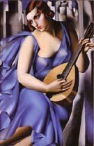 Donna In Blue - Tamara de Lempicka