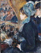At The Theatre c1876 - Pierre Auguste Renoir