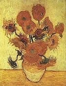 Vase with Fifteen Sunflowers 1889 - Vincent van Gogh