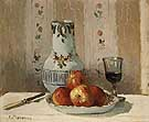 Still Life with Apples and Pitcher 1872 - Camille Pissarro