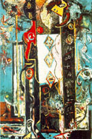 Male and Female 1942 - Jackson Pollock