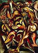 Naked Man with Knife - Jackson Pollock