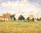 The Red House 1873 - Camille Pissarro