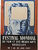 Poster for the festival Mondial du Film et des Beaux-Arts,  1947 - Rene Magritte