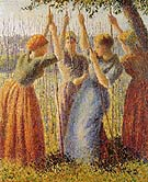 Peasants Planting Pea Sticks 1891 - Camille Pissarro