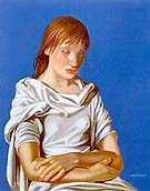 Young Lady with Crossed Arms Lady in Blue 1939 - Tamara de Lempicka