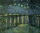 Starry Night Over the Rhone 1888 - Vincent van Gogh