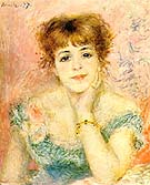 Potrait of Jeanne Samary 1877 - Pierre Auguste Renoir