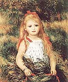 Girl with Sheaf of Corn - Pierre Auguste Renoir