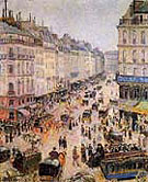 Rue St  Lazare 1893 - Camille Pissarro