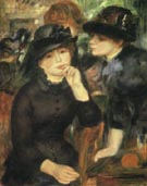 Two Girls in Black 1881 - Pierre Auguste Renoir
