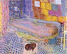 Nude in the Bath and Small Dog c1941 - Pierre Bonnard