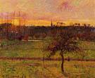 Sunset at Eragny 1894 - Camille Pissarro