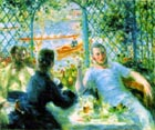 The Canoeists Luncheon - Pierre Auguste Renoir