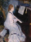 Woman at the Piano 1875 - Pierre Auguste Renoir