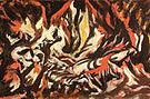 The Flame 1934 - Jackson Pollock