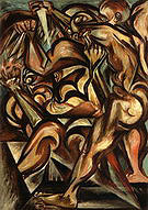 Naked Man with Knife 1938 - Jackson Pollock