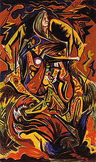 Composition with Woman 1938 - Jackson Pollock