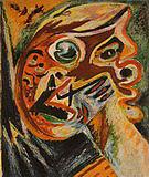 Orange Head 1938 - Jackson Pollock