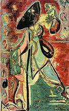 Moon Woman 1942 - Jackson Pollock