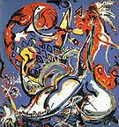 Moon Woman Cuts the Circle 1943 - Jackson Pollock