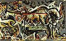 The She Wolf 1943 - Jackson Pollock