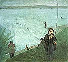 Anglers on the Rhine 1905 - August Macke