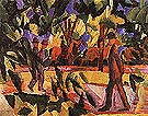 Riders and Strollers in the Avenue 1914 - August Macke