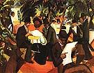 Garden Restaurant 1912 - August Macke