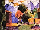Garden on Lake of Thun 1913 - August Macke