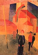 Church with Flags 1914 - August Macke