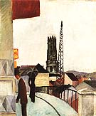 Cathedral at Freiburg Switzerland 1914 - August Macke