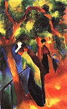 Sunlight Walk 1913 - August Macke