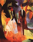 People by a Blue Lake 1913 - August Macke