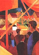 Tightrope Walker 1914 - August Macke