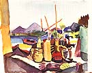 Landscape near Hammamet 1914 - August Macke
