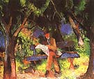Man Reading in a Park 1914 - August Macke