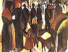 Leave taking 1914 - August Macke