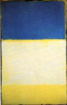 No 6 Yellow White Blue Over Yellow on Gray - Mark Rothko