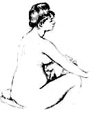 Seated Bather Drying Her Arms 1885 - Pierre Auguste Renoir
