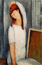 Portrait of Jeanne Hebuterne Left Hand Behind her Head 1919 - Amedeo Modigliani