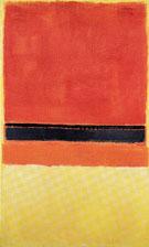 Untitled Red Black Orange and Pink on Yellow 1954 - Mark Rothko